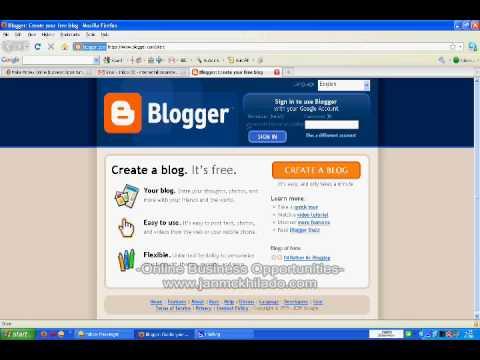 How To Make A Blog >> How To Make A Blog In Blogger Com Using Your Gmail Google